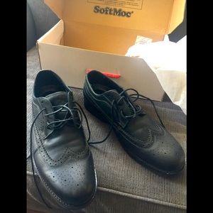 Softmoc black oxfords